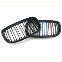 Решетка радиатора, Ноздри для BMW X5 E70, X6 E71 2007-2014 черные глянцевые М-стиль