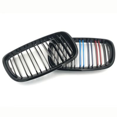Решітка радіатора, ноздрі для BMW X5 E70, X6 E71 2007-2014 чорні глянцеві М-стиль