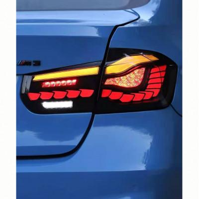 Альтернативная оптика задняя на BMW 3 F30 2012- LED стиль M4 Oled черная JunYan CPBMWF30TLB
