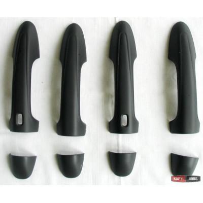 Накладки на ручки для Toyota Hilux Revo 2014- черные ASP TSTYHX-RHDC044