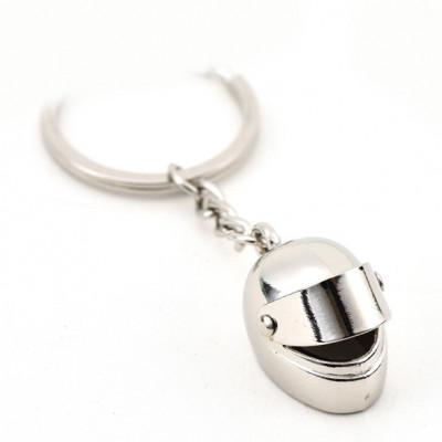 Автомобільний брелок на ключі Мотоциклетний шолом хром