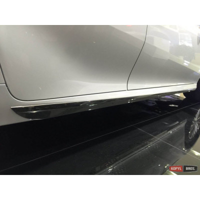 Накладки на на наружные порогидля Toyota Camry XV70 2018- ASP SAA-SN3444