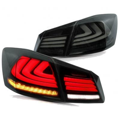 Honda Accord 9 оптика задняя стиль Lexus  LED светодиодная черная