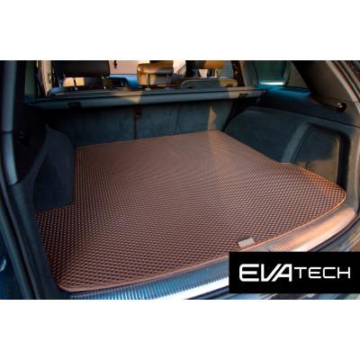 Коврик в багажник EVAtech для Audi Q7, I поколение (4L), (05-15), 5-мест EVA полимерный коричневый