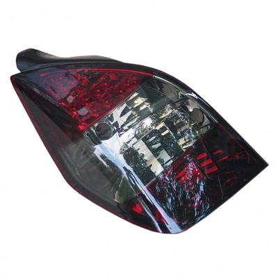 Альтернативная оптика задняя на Citroen C2 2003-2005 тюнинг красная тонированная JunYan
