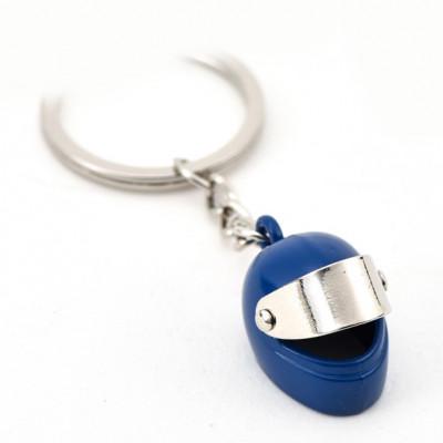 Автомобільний брелок на ключі Мотоциклетний шолом синий