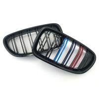 Решетка радиатора, ноздри для BMW 5 Series 2010-2016 (F10) черные глянцевые М-стиль