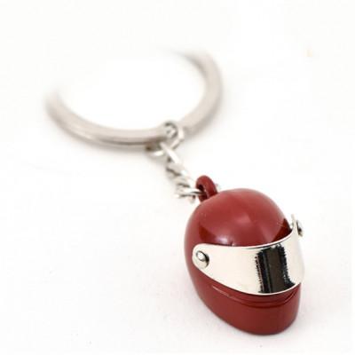 Автомобільний брелок на ключі Мотоциклетний шолом червоний