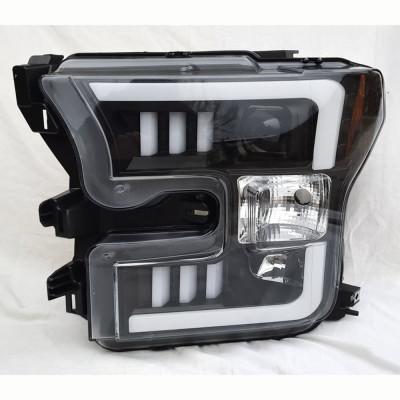Альтернативная оптика передняя на Ford F-150 2015- ксенон, черная JunYan YAY-F15015HID